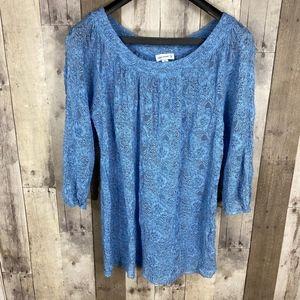 3/$25🛍️ Susan Graver Allover Lace Blouse Top